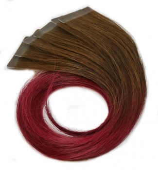 inTouch easy Touch Tape Extensions Farbe 4/BurgRed Ombre