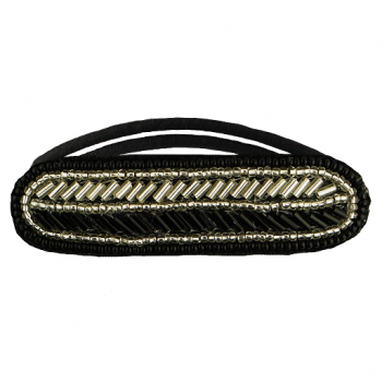 Alton Hair Tie Black/Silver