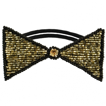 Dolorosa Hair Tie Gold/Black